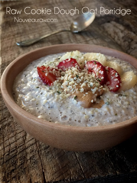 Raw Gluten-Free Cookie Dough Oat Porridge Recipe