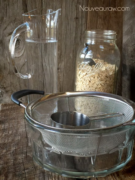 pulling together every thing needed to soak oats