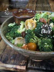 Toasted Sesame Broccoli Salad (raw, vegan, gluten-free, nut-free)