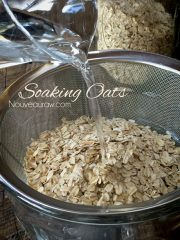 Oats, soaking & drying
