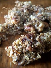 Orange Hazel Nut Fig Granola (raw, vegan, gluten-free)