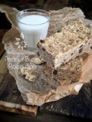 Peanut Butter Raisin Bars (raw, vegan, gluten-free)