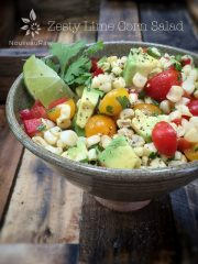 Zesty Lime Corn Salad (raw, vegan, gluten-free, nut-free)