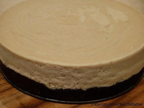 Frozen Chocolate Peanut Butter Buckeye Cake right after freezer, that is how sides look like