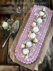 Prickly Pear Cheesecake  (raw, vegan, gluten-free)