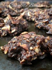 Chocolate Banana Raisin Granola (raw, vegan, gluten-free)