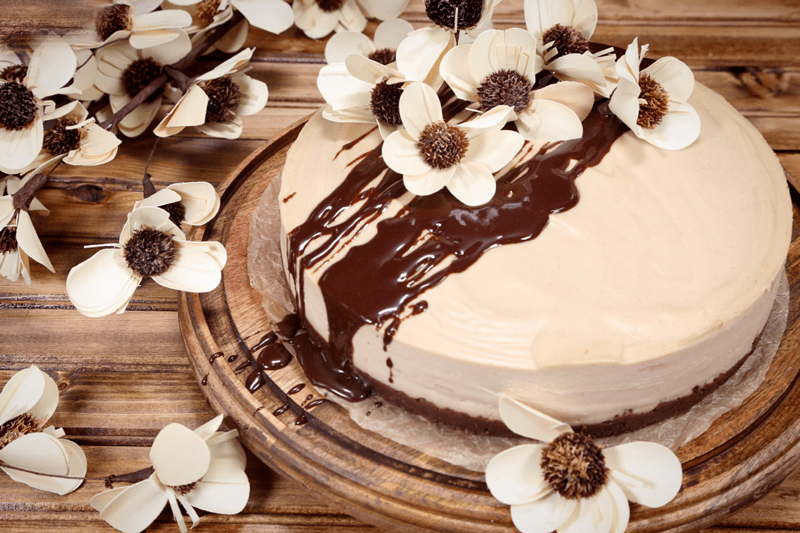 Chocolate-Peanut-Butter-Buckeye-Cake-top-view
