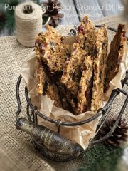 Pumpkin Raisin Pecan Granola Brittle (raw, vegan, gluten-free)