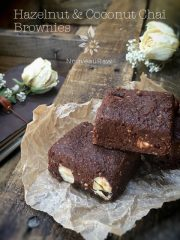 Hazelnut & Coconut Chai Brownies (raw, vegan, gluten-free)