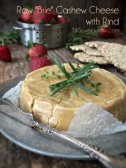 Brie Cashew Cheese with Rind (raw, vegan, gluten-free)