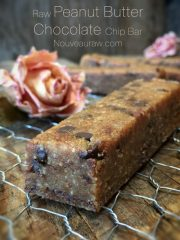 Peanut Butter Chocolate Chip Bar (raw, vegan, gluten-free)