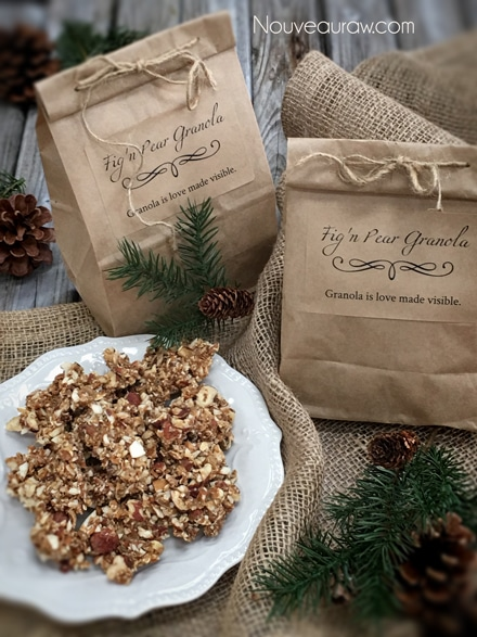 Raw, Vegan, Gluten Free Fig Pear Granola