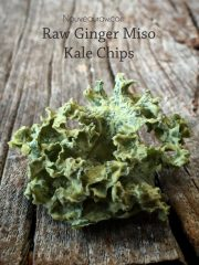 Ginger Miso Kale Chips (raw, vegan, gluten-free, nut-free)