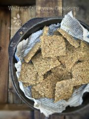Walnut and Thyme Crackers (raw, vegan, gluten-free)