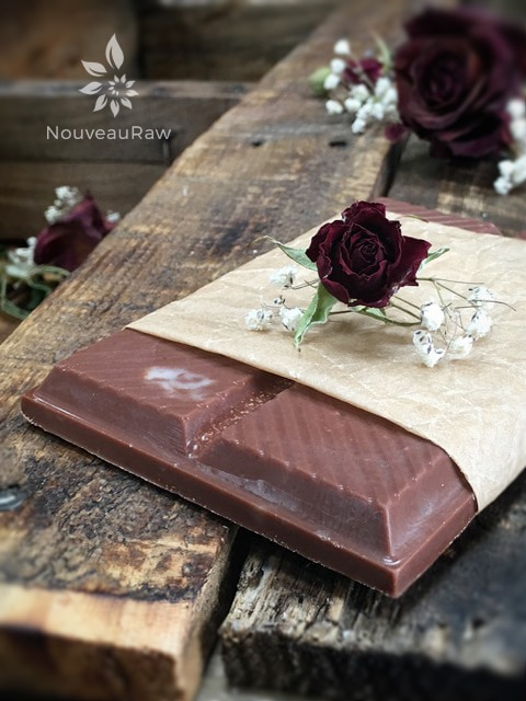 a close up of  Raw, vegan, gluten-free, nut-free, sugar-free Chocolate Coconut Bark