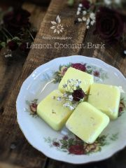Lemon Coconut Bark  (raw, vegan, gluten-free, nut-free)