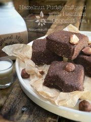 Hazelnut Fudge Infused with Plantain Coconut Tea (raw, vegan, gluten-free)