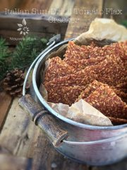 Italian Sun-Dried Tomato Flax Cracker  (raw, vegan, gluten-free, nut-free)