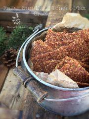 Italian Sun-Dried Tomato Flax Cracker  (raw, vegan, gluten-free, nut-free)