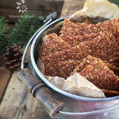 Gluten Free Vegan Italian Sun Dried Tomato Flax Crackers