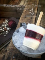 Blackberry Coconut Cream Popsicle (raw, vegan, gluten-free, nut-free)