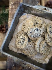 Black Sesame Wasabi Cracker (raw, vegan, gluten-free)