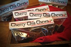 Chia Cherry Gummy Chews (raw, vegan, gluten-free, nut-free)