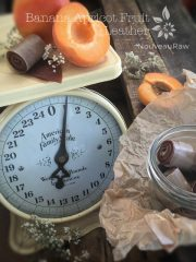 Banana Apricot Fruit Leather (raw, vegan, gluten-free, nut-free) photos redone