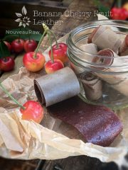 Banana Cherry Fruit Leather (raw, vegan, gluten-free, nut-free)