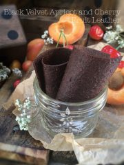 Black Velvet Apricot and Cherry Fruit Leather (raw, vegan, gluten-free, nut-free)