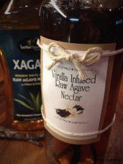 Vanilla Bean Infused Agave Nectar (raw, vegan, gluten-free, nut-free)