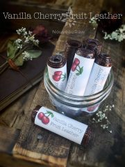 Vanilla Cherry Fruit Leather (raw, vegan, gluten-free, nut-free)