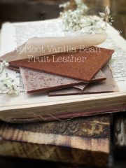 Apricot Vanilla Bean Fruit Leather (raw, vegan, gluten-free, nut-free)