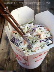 Asian Curried Cabbage Slaw (raw, vegan, gluten-free, nut-free)