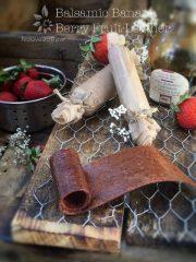 Balsamic Banana Berry Fruit Leather (raw, vegan, gluten-free, nut-free)