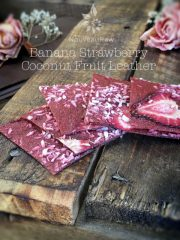 Banana Strawberry Coconut Fruit Leather (raw, vegan, gluten-free, nut-free)