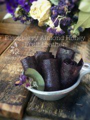 Blackberry Almond Honey Fruit Leather (raw, gluten-free)