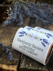 Blackberry Banana Lavender Fruit Leather (raw, vegan, gluten-free, nut-free)