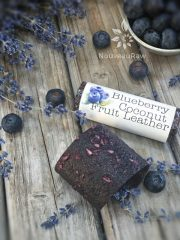 Blueberry Coconut Fruit Leather (raw, gluten-free, nut-free)