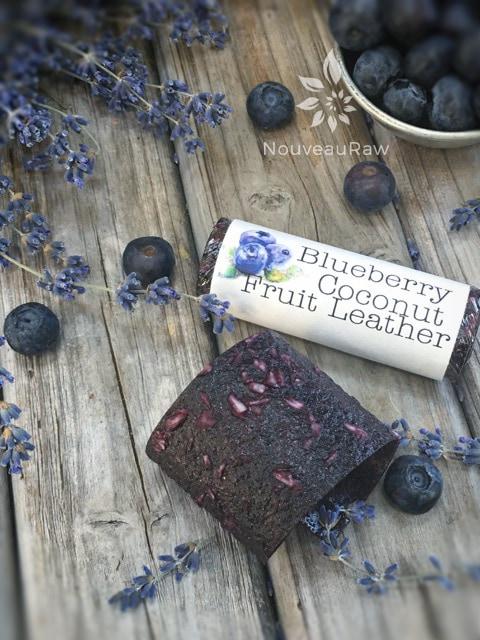 Blueberry Coconut Fruit Leather (raw, gluten-free, nut-free)