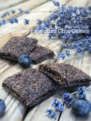 Blueberry Lavender Chia Chews (raw, vegan, gluten-free, nut-free)