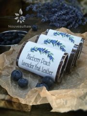 Blueberry Peach Lavender Fruit Leather  (raw, vegan, gluten-free, nut-free)