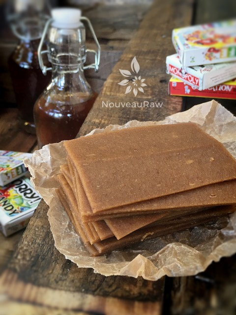 slices of fruit leather and board games