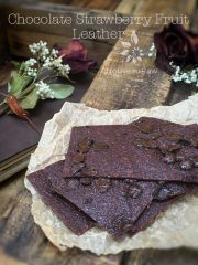 Chocolate Strawberry Fruit Leather (raw, vegan, gluten-free, nut-free)