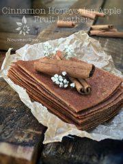 Cinnamon Honeycrisp Apple Fruit Leather (raw, gluten-free, nut-free)