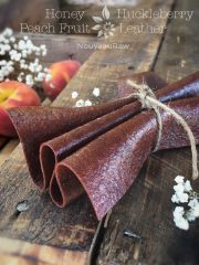 Honey Huckleberry Peach Fruit Leather (raw, vegan, gluten-free, nut-free)