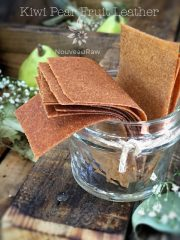 Kiwi Pear Fruit Leather (raw, vegan, gluten-free, nut-free)