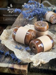 Lavender Peach Fruit Leather (raw, vegan, gluten-free, nut-free)