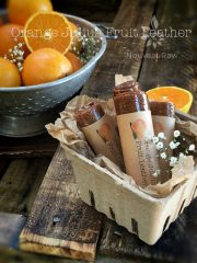 Orange Julius Fruit Leather (raw, vegan, gluten-free, nut-free)