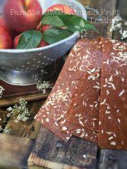Paradise Sweet Almond Fruit Leather (raw, vegan, gluten-free)